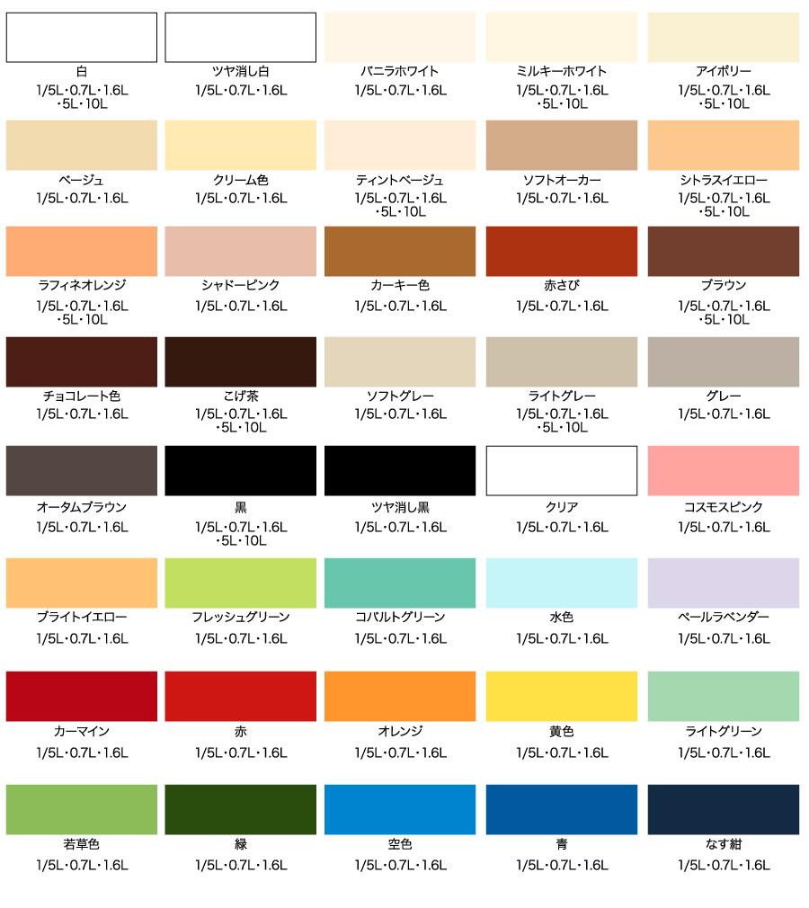 水性多用途カラー|水性塗料|製品情報|アサヒペン